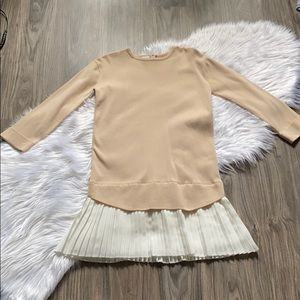 Adorable Sweater Tunic with Pleats